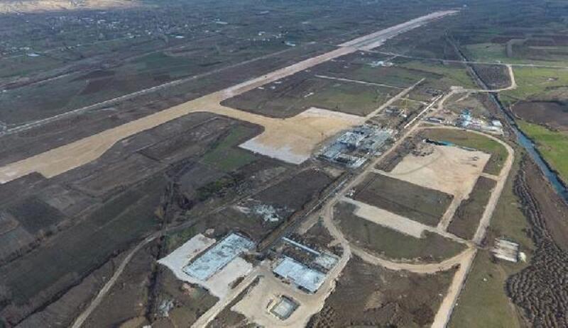 Tokat'ta yeni havalimanı inşaatının yüzde 50'lik kısmı tamamlandı