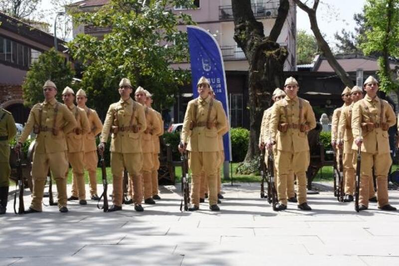 Bursa'da Jandarma taburuna temsili uğurlama