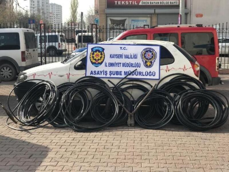 Kayseri'de 'kablo' hırsızlığına, 2 tutuklama