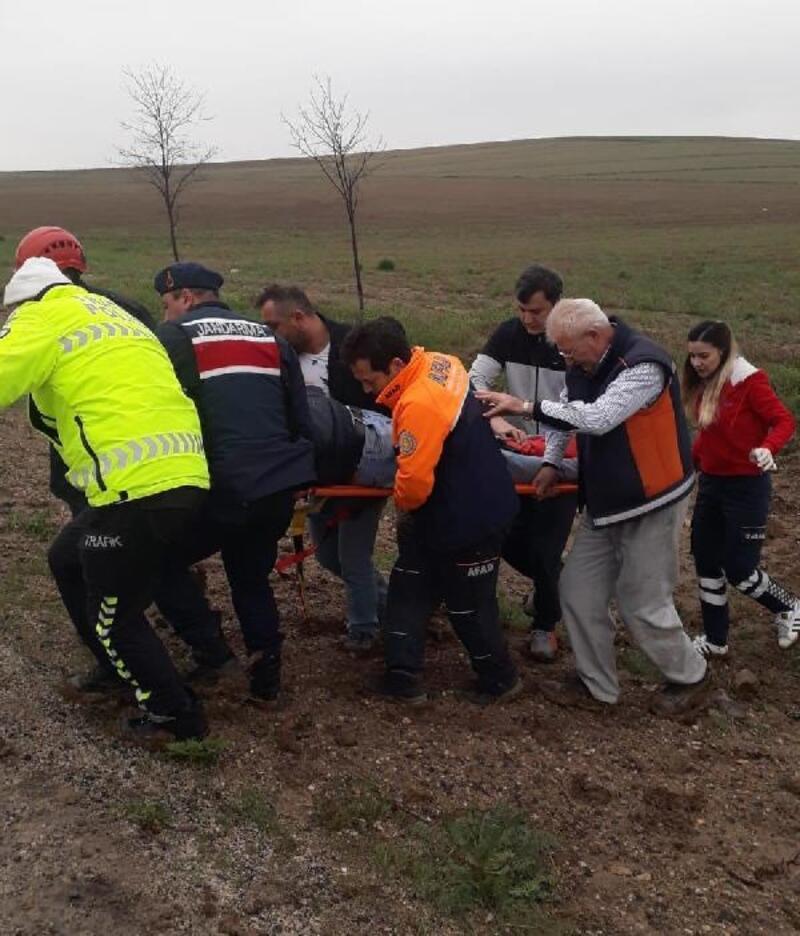 Aksaray'da kamyonet takla attı: 1 yaralı