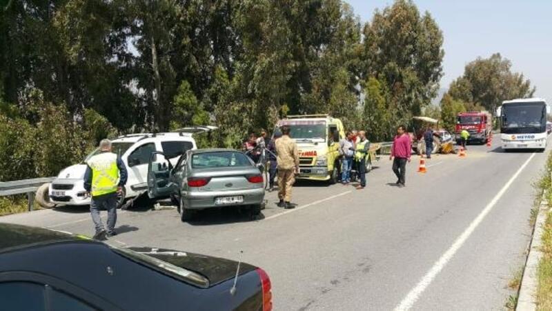 Söke'de zincirleme kaza: 4 yaralı