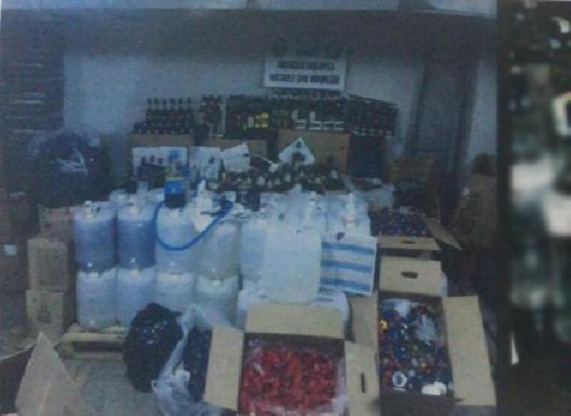 Ankara'da 'sahte içki' operasyonu: 2 tutuklama