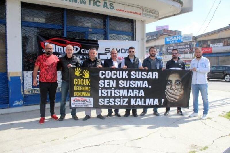 Samsun'da çocuk istismarına tepki