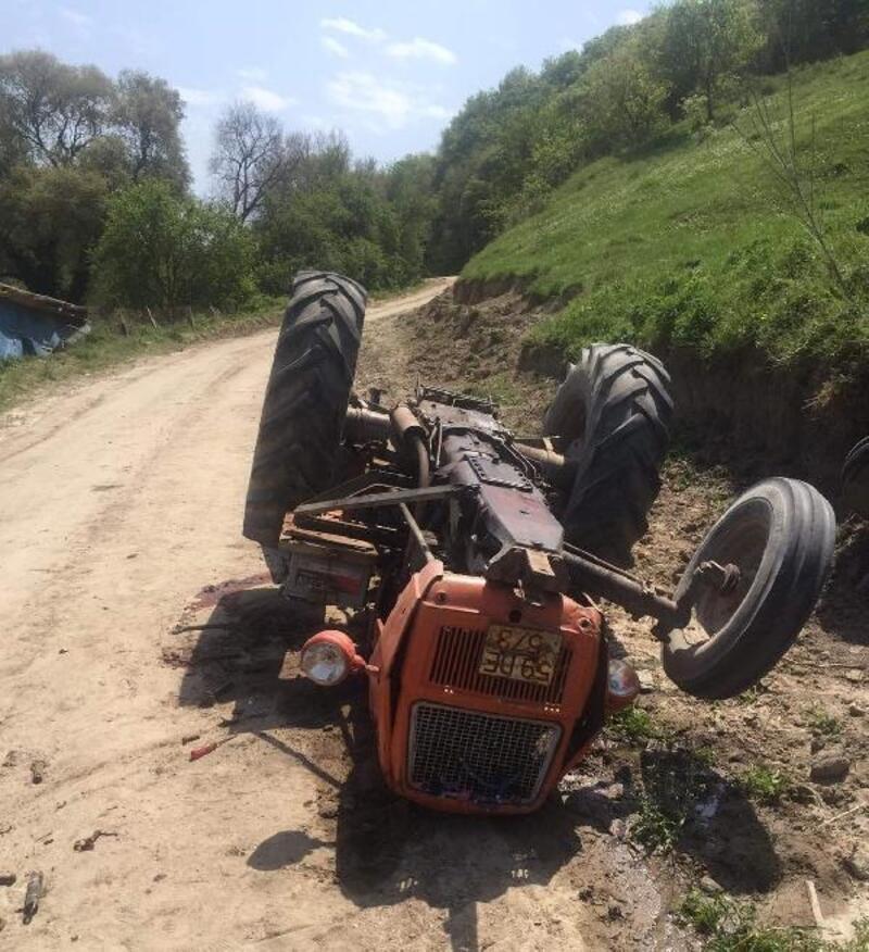 Devrilen traktörün altında kalan 12 yaşındaki Erinç, öldü
