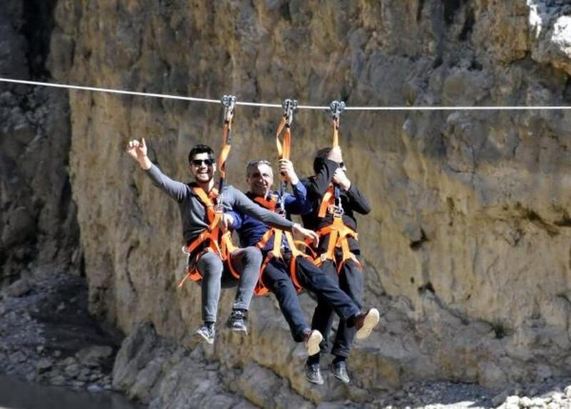 Karanlık Kanyon'da zipline heyecanı