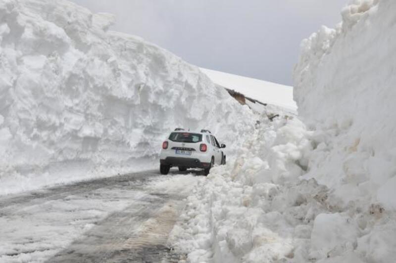Nemrut Krater Dağı'nda karla mücadele