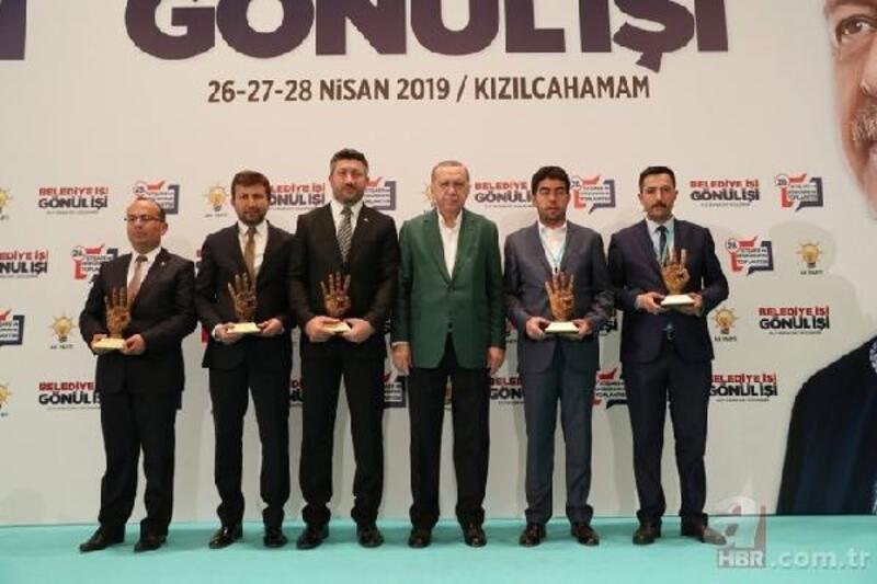 Erdoğan'dan Delice'ye ödül