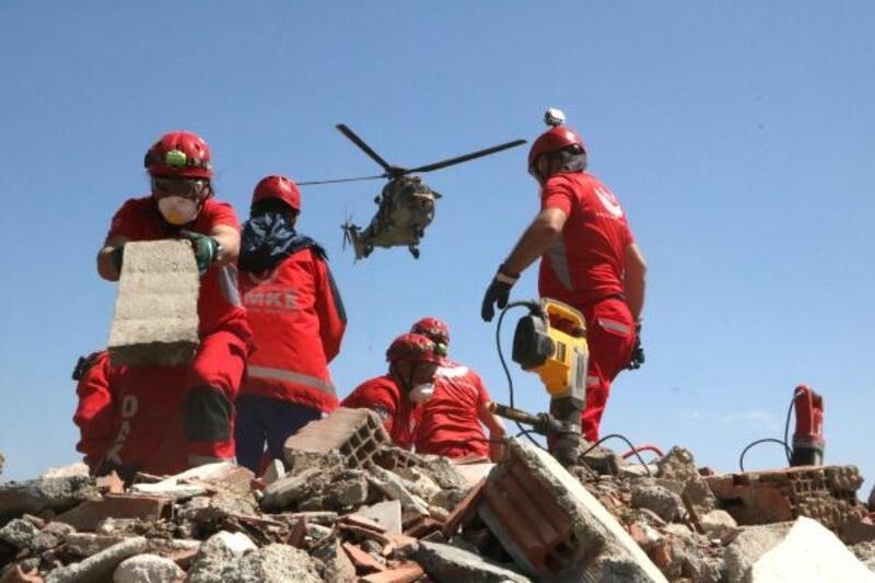Eskişehir'de AFAD'dan helikopter destekli deprem tatbikatı