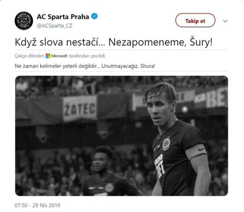 Sparta Prag'dan duygusal Sural paylaşımı