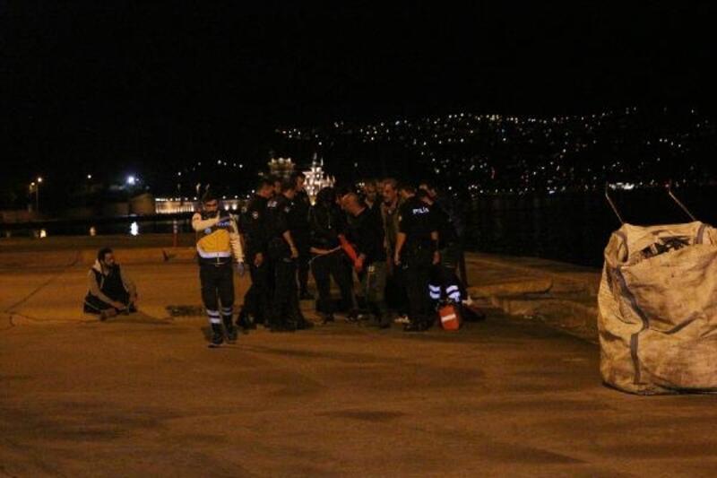Sarıyer'de denize düşen kişi kurtarılamadı