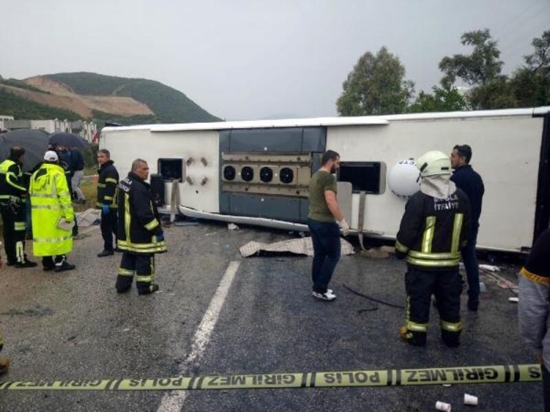 Milas'taki otobüs kazasında ölü sayısı 3'e yükseldi