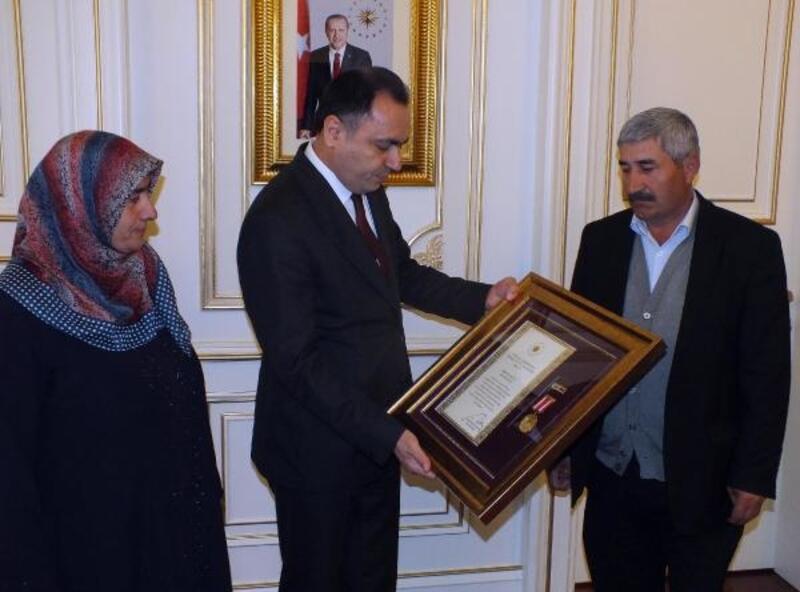 Yozgat'ta şehit yakınlarına Devlet Övünç Madalyası verildi