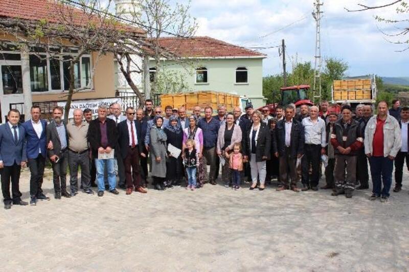 Kırklareli'de bal üreticisine kovan ve petek dağıtımı