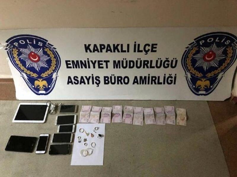 Kapaklı ve Çerkezköy'deki hırsızlıkların 2 şüphelisi yakalandı