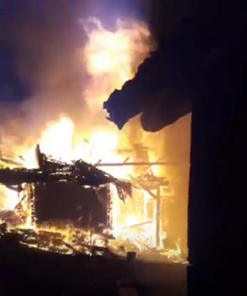 Çorum'da 11 ev yandı