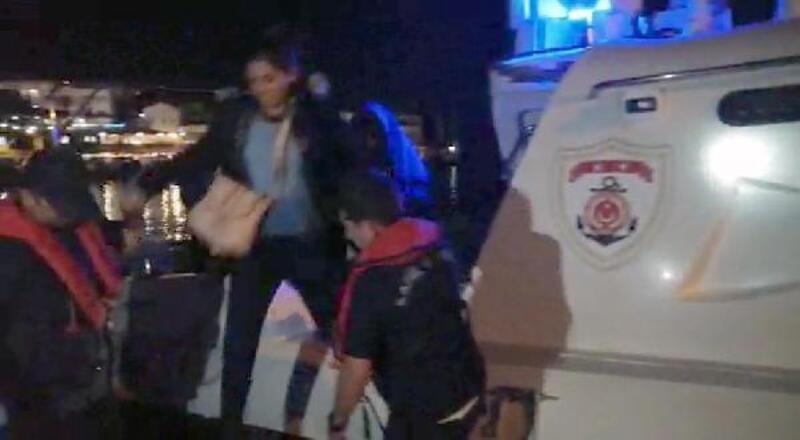 Datça'da sürüklenen bottaki kaçak göçmenler kurtarıldı