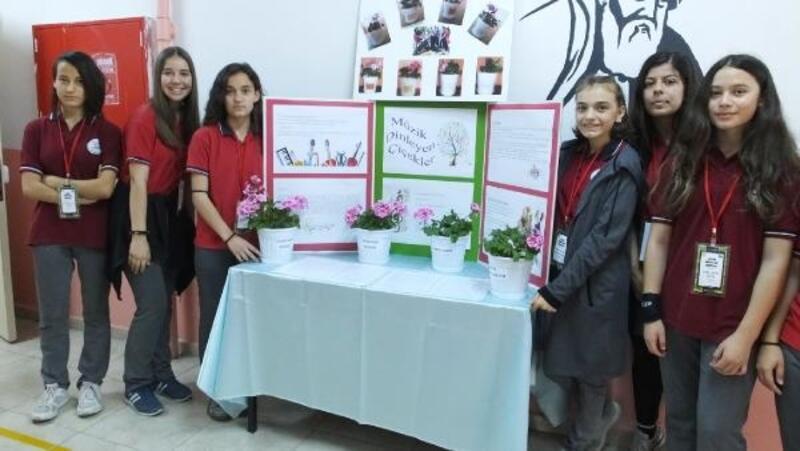 Burhaniyeli öğrenciler, müziğin çiçekler üzerindeki etkisini araştırdı