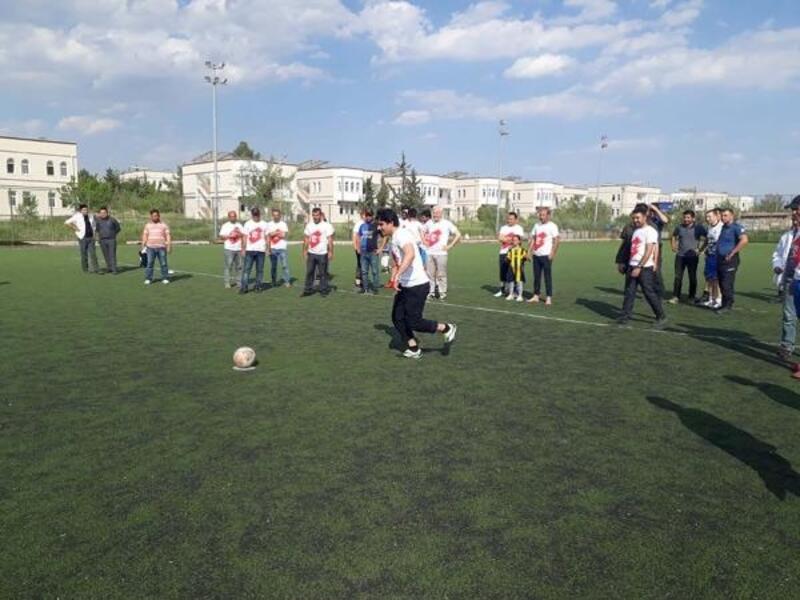 Samsat'ta kurumlar arası penaltı turnuvası