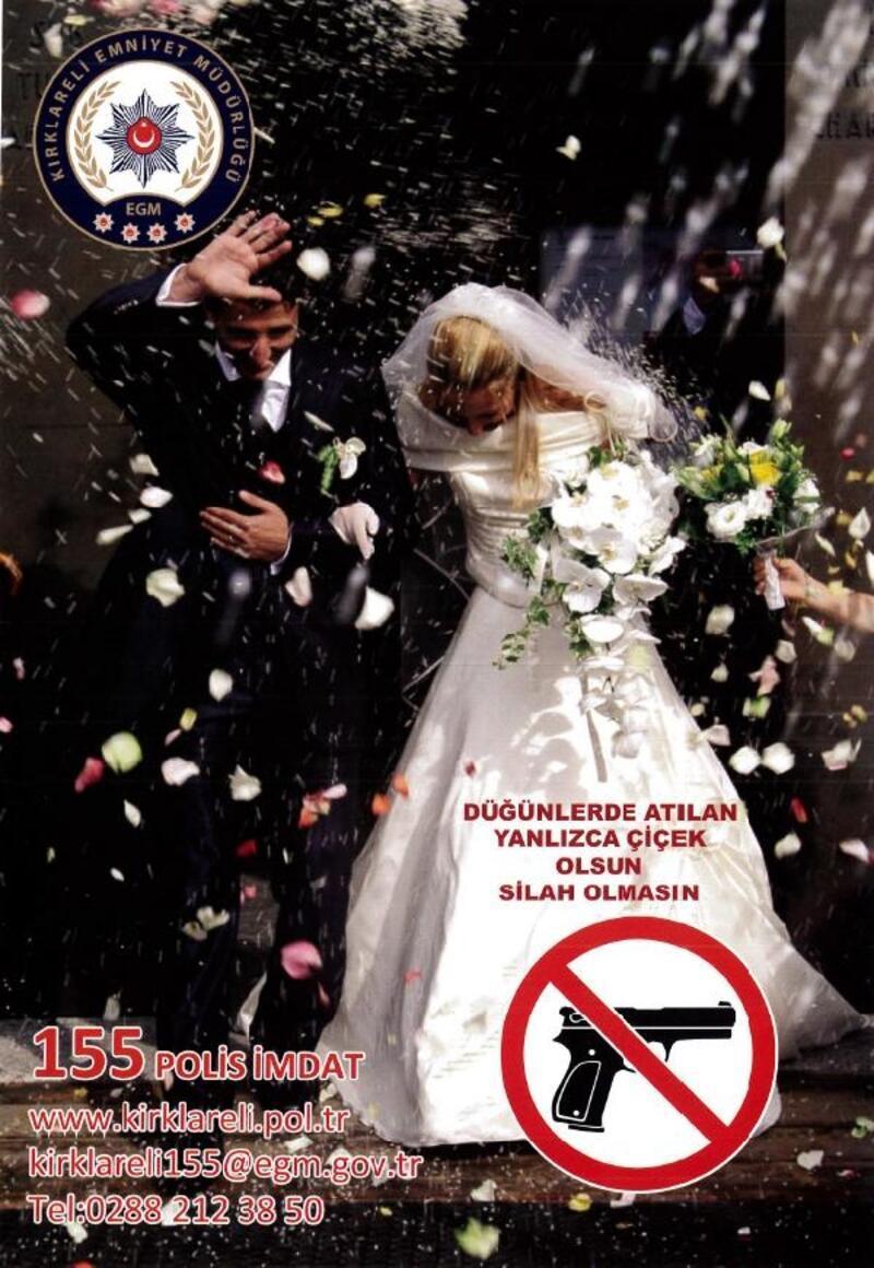 Kırklareli'de, 'Düğünlerde atılan çiçek olsun, silah olmasın' projesi
