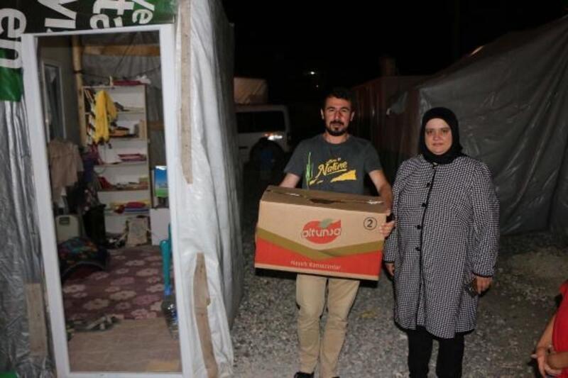 Samsatlı depremzedelere gıda kolisi yardımı