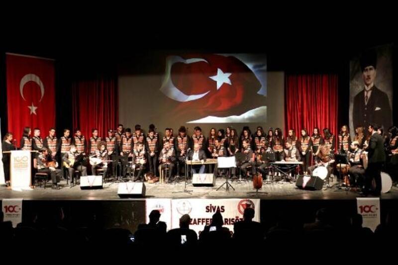 Sivas'ta kahramanlık türküleri seslendirildi