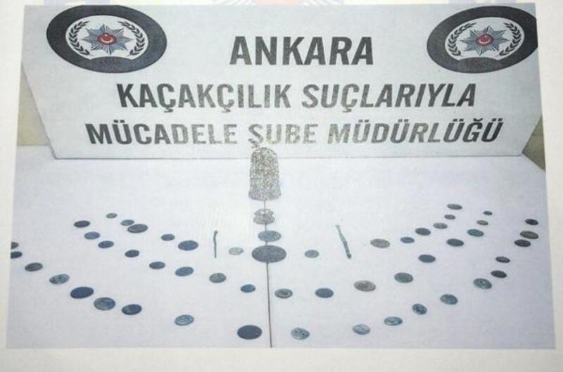 Ankara'da tarihi eser operasyonu: 3 gözaltı