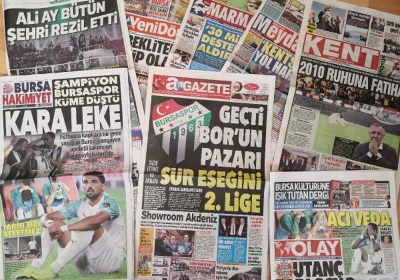 Bursa yerel basınından Bursaspor'a tepkiler