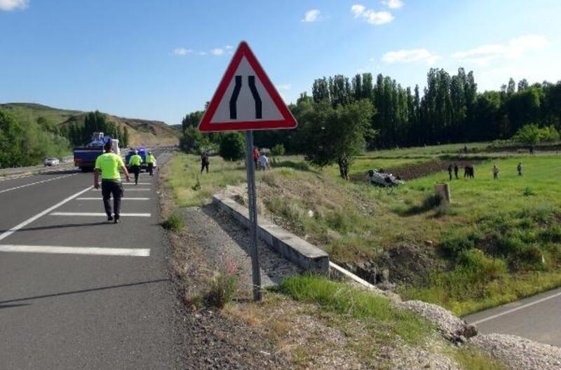 Yozgat'ta otomobil şarampole yuvarlandı: 1 ölü, 2 yaralı