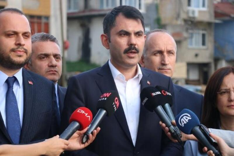 Bakanı Kurum Fikirtepe'deki kentsel dönüşüm alanında açıklamalarda bulundu