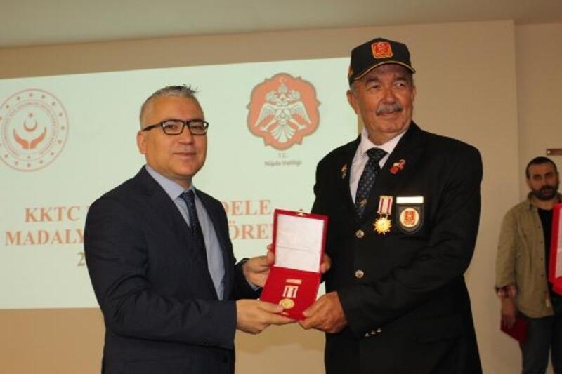 Niğde'de 39 Kıbrıs Gazisine madalya verildi