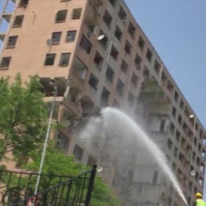 Bahçelievler'de 11 katlı binanın yıkımı sırasında çökme