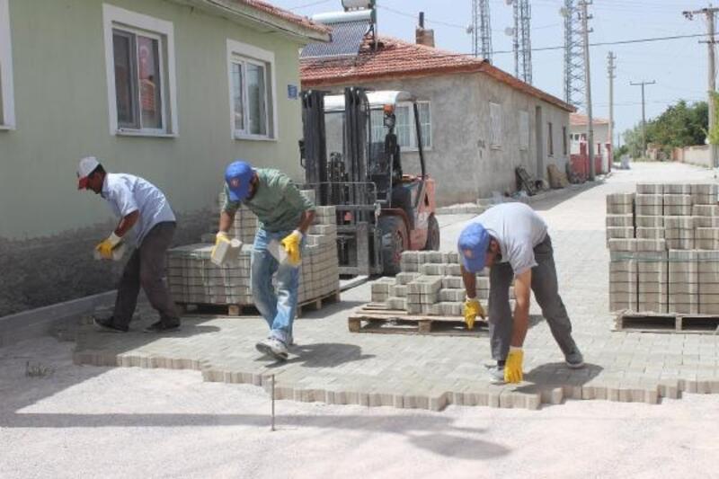 Mahmudiye'de üst yapı çalışmaları sürüyor