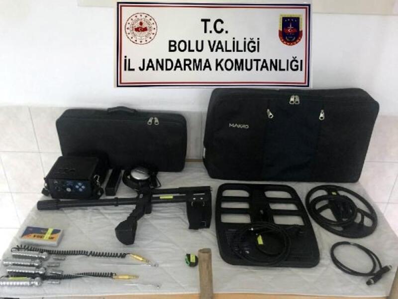 Bolu'da kaçak kazı operasonu: 4 gözaltı