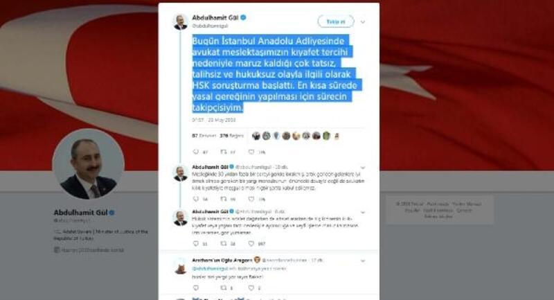 Bakan Gül: HSK soruşturma başlattı