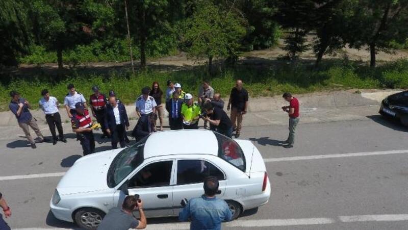Sinop'ta, Vali Şakalar trafik denetimlerine katıldı