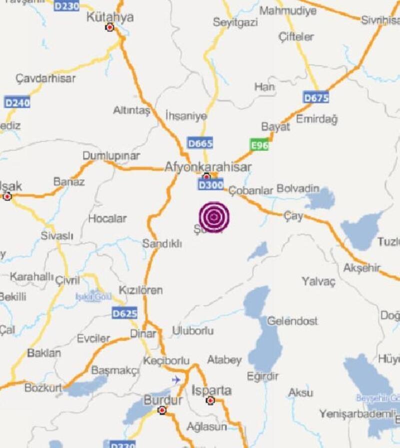Afyonkarahisar'da 3.5 büyüklüğünde deprem