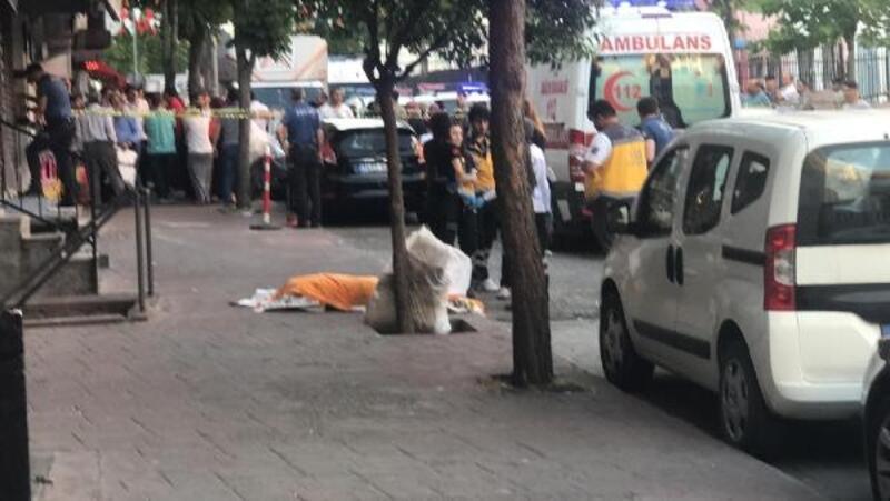 Esenler'de eşi ve iki çocuğunu ağır yaralayan baba 5.kattan atlayarak intihar etti (1)