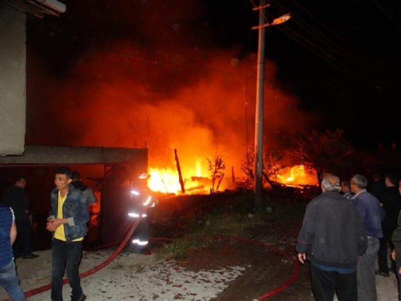 Domaniç'te ev ve ahır yandı