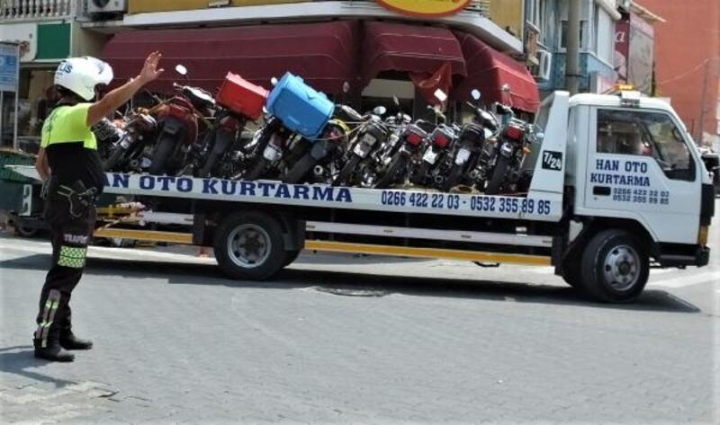 Burhaniye'de 50 motosikletin trafiğe çıkışı yasaklandı