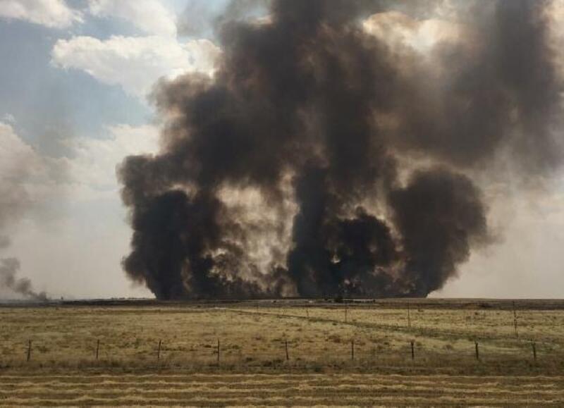 Kamışlı'daki tarlalarda yangın, Türkiye'de önlem