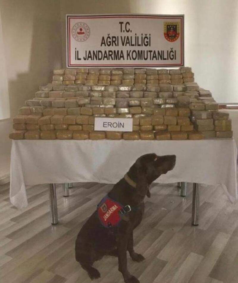 Ağrı'da 585 kilo eroin ele geçirildi