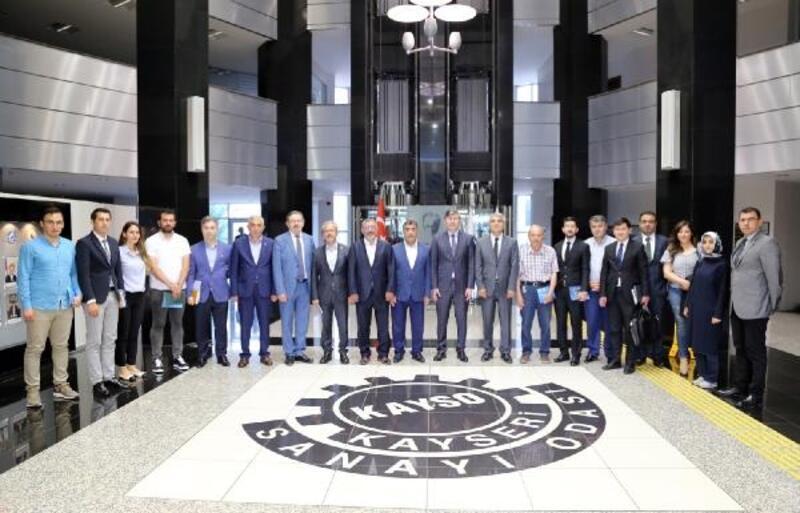 Kazakistan Büyükelçisi'nden KAYSO'ya ziyaret