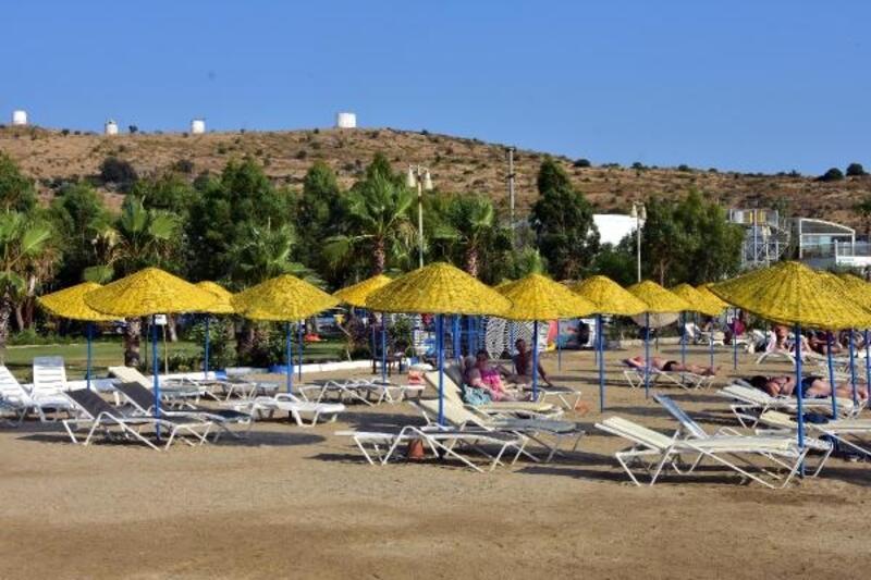 Bodrum plajları, yabancı turistlere kaldı