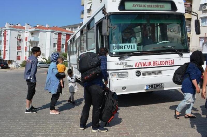 Ayvalık'ta 58kaçak göçmen yakalandı