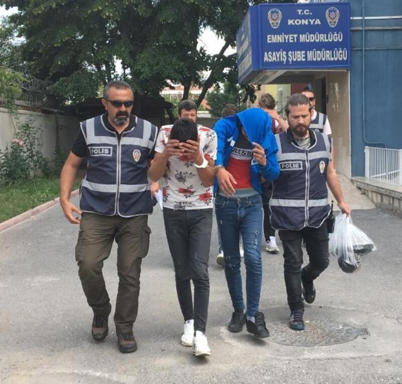 Konya'da akü hırsızlığına 4 tutuklama