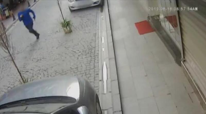Hırsız-Bekçi kovalamacası kamerada