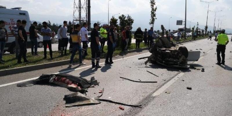 İnegöl'de kazada hayatını kaybeden 2 kişi toprağa verildi