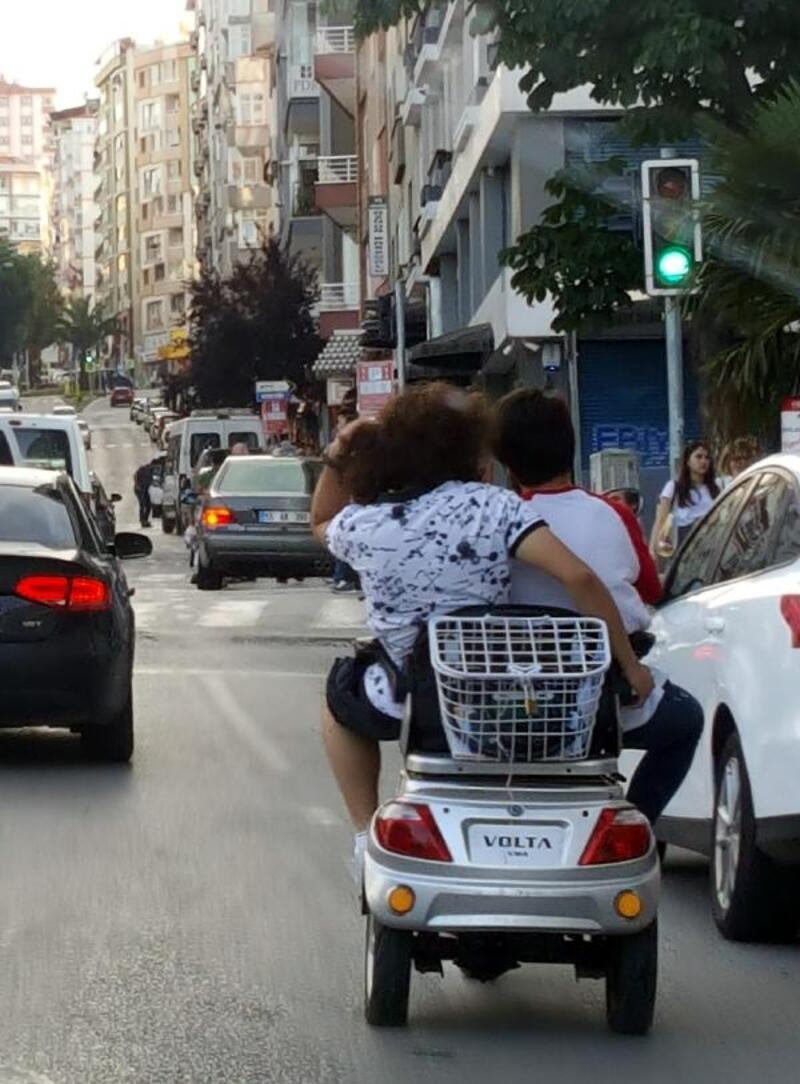 Elektrikli bisikletle tehlikeli yolculuk