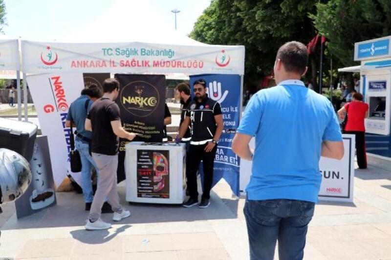 Başkentte, uyuşturucuya ilişkin bilgilendirme standı açıldı