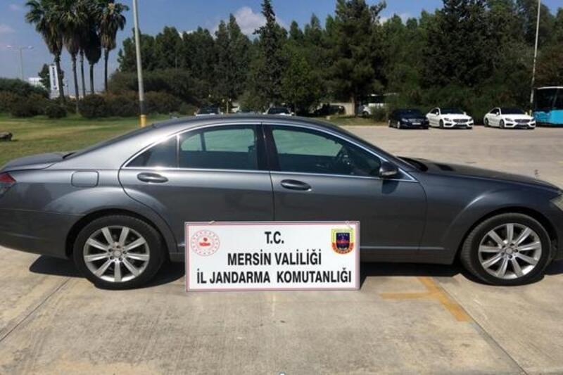 Almanya'dan çalınan otomobil Mersin'de ele geçti